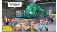 De eerste treinrit van Suske en Wiske